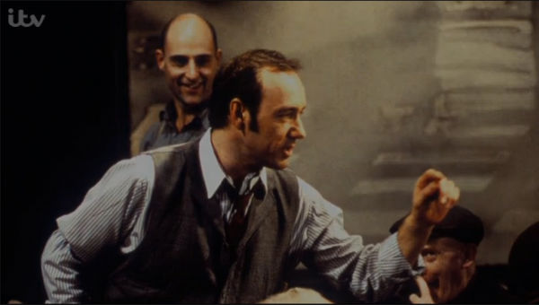 Mark Strong (back) appeared with Kevin Spacey in The Iceman Cometh in 1998/9: both had more hair then.