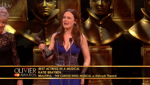 Katie Brayben recalls her Beautiful audition when collected her Best Actress in a Musical award