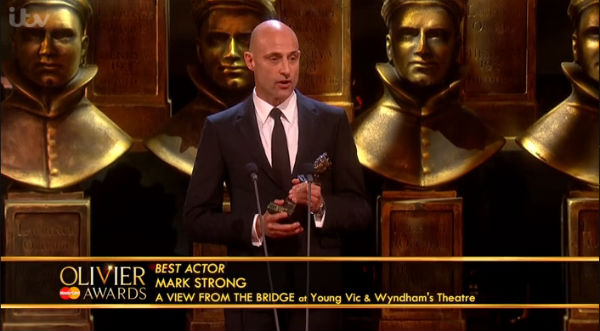 Mark Strong collects Best Actor for A View from the Bridge