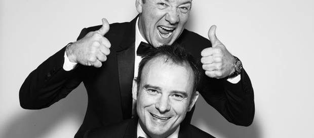 Kevin Spacey gives his successor Matthew Warchus the thumbs up at the Old Vic