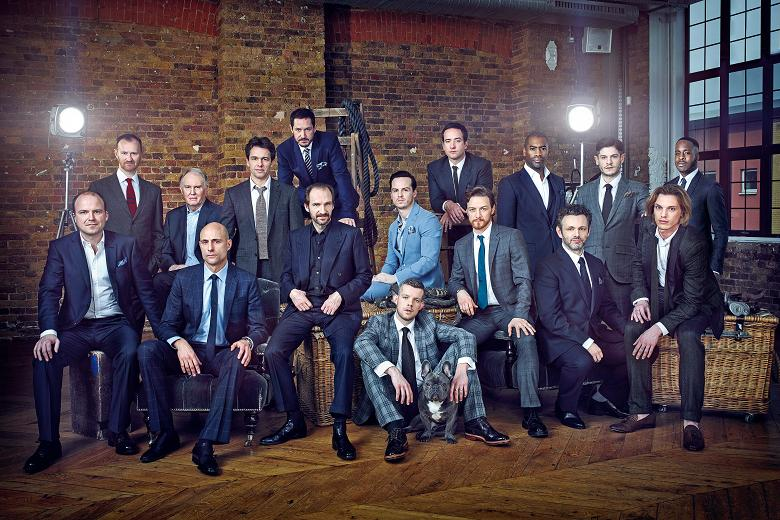 """The """"Drama Kings"""" photoshoot for The Times. © Robert Wilson"""