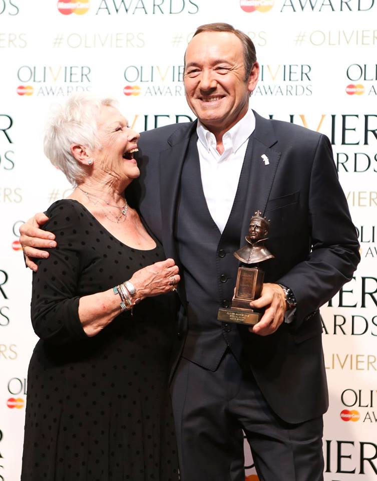 Judi Dench presented the Society's Special Award to Kevin Spacey: evidently, they often have lots to laugh about.