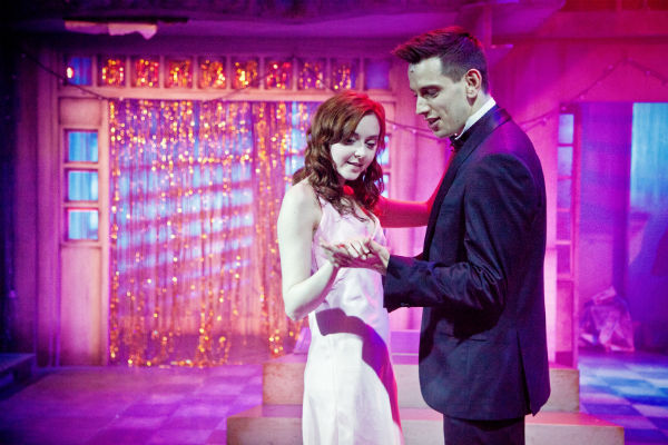 Evelyn Hoskins and Greg Miller Burns at the senior prom in Carrie at Southwark Playhouse - before the blood flows.