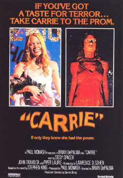 The 1976 film poster for Carrie