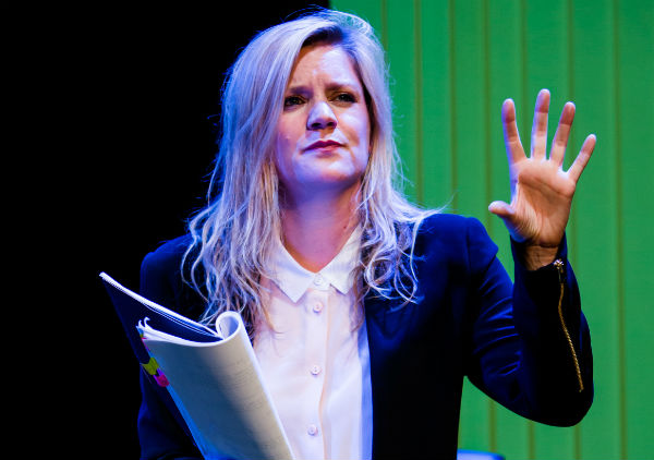 Olivia Poulet in Mark Ravenhill's Product at London's Arcola Theatre, May 2015.
