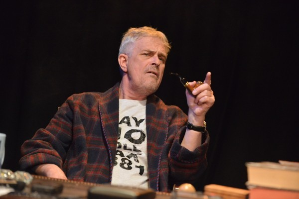 Philip Bretherton plays the late Tony Benn in Tony's Last Tape, at the Bridgehouse Theatre in Penge SE20 until 17 May 2015. © Robert Day