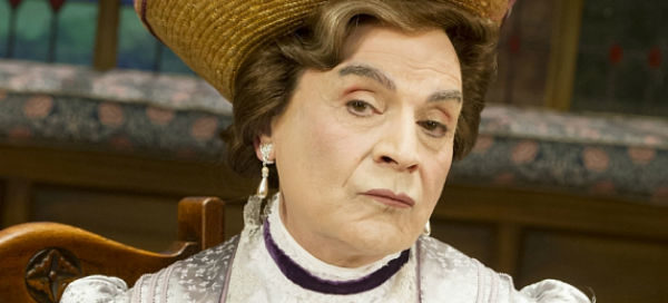 Cross-dressing appeal: David Suchet stars as Lady Bracknell in The Importance of Being Earnest at the West End's Vaudeville Theatre, London's West End, July 2015
