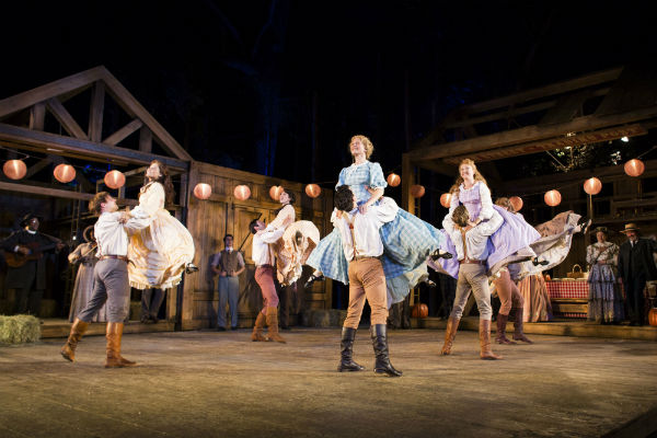 The company of Seven Brides for Seven Brothers at the Open Air Theatre