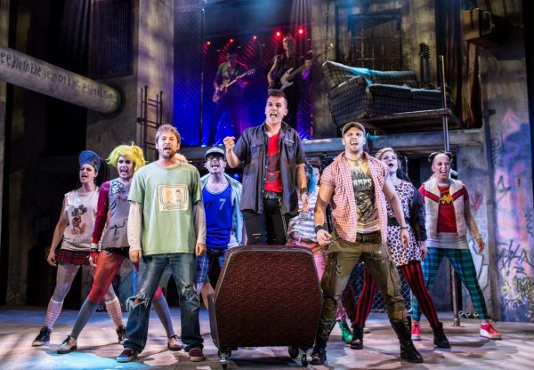 The London cast of American Idiot at the West End's Arts Theatre