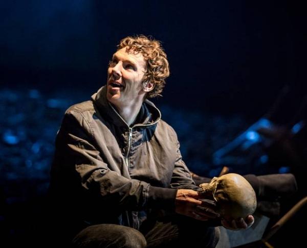 Benedict Cumberbatch in Hamlet at the Barbican Theatre, August 2015.