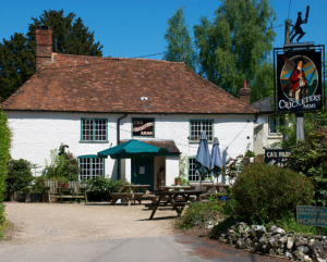 The Cricketers Arms in Tangley, where Barney worked