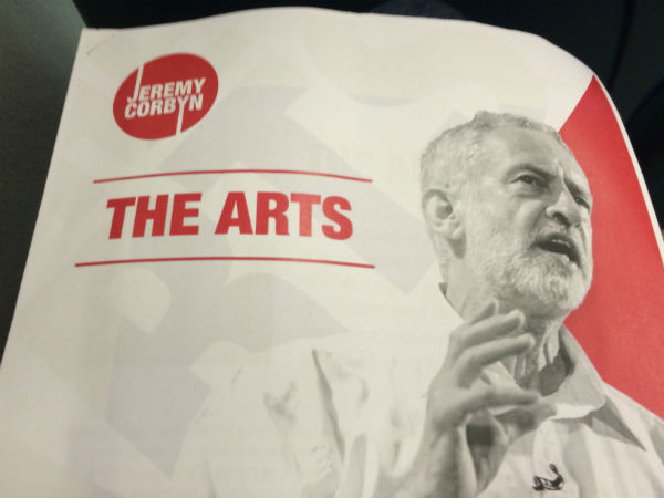 What would Jeremy Corbyn do for the arts if he were Prime Minister?