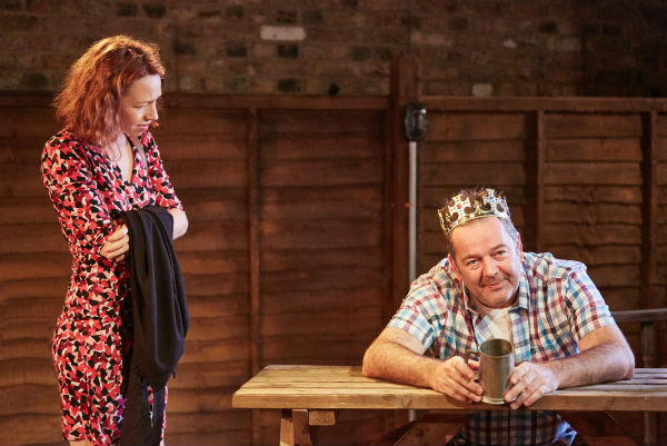 Ellie Piercy and James Doherty in Eventide at the Arcola Theatre, pre-touring
