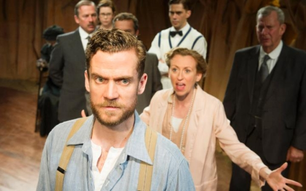 Adam Jackson-Smith and The First Man cast at Jermyn Street Theatre