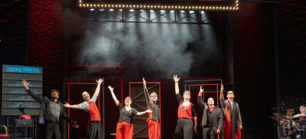 The company of Showstopper! The Improvised Musical at the West End's Apollo Theatre