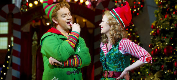 Ben Forster and Kimberley Walsh in Elf The Musical at the Dominion Theatre. © Alastair Muir