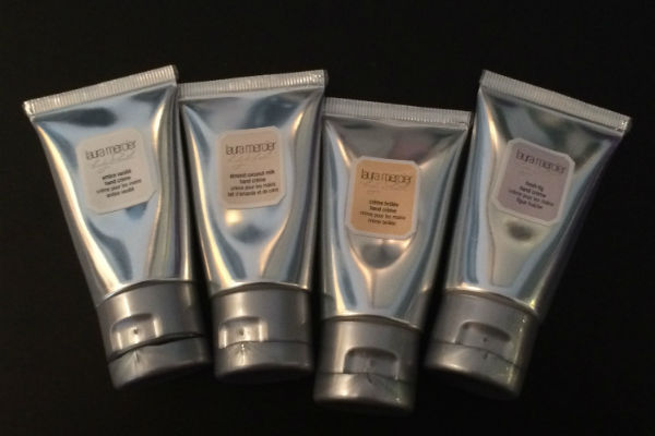 Highly recommended: Laura Mercier hand lotions