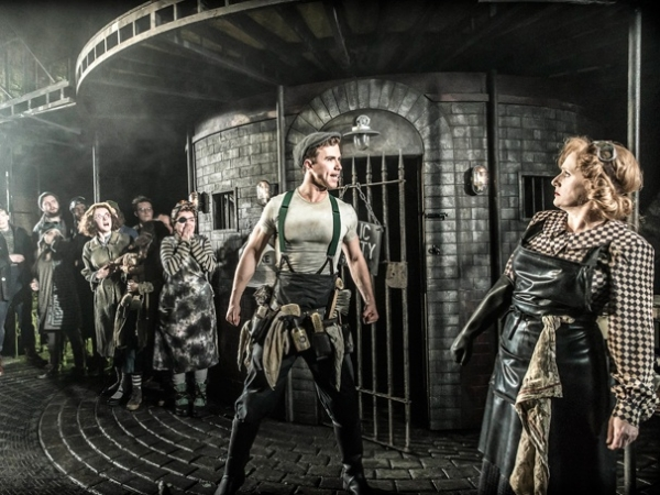 Richard Fleeshman and Jenna Russell starred in Urinetown, which had its UK premiere at the St James Theatre in March 2014