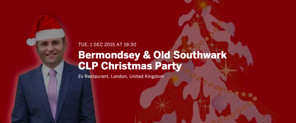 You're invited! Come to our Christmas party on Tuesday 1 December