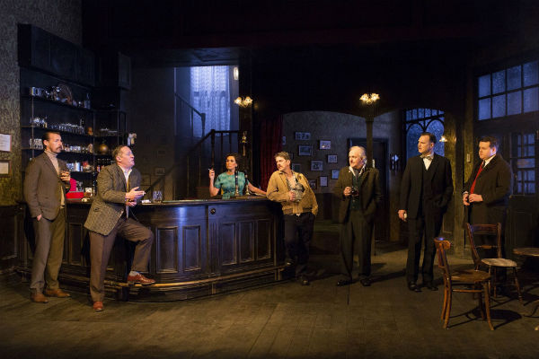 The cast of Hangmen at Wyndham's Theatre