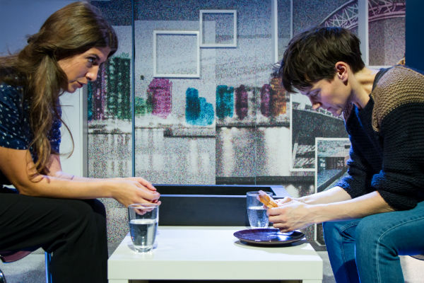 Alice McCarthy and Anna Martine in Jon Brittain's Rotterdam at Theatre503