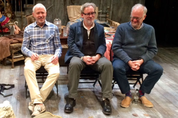 Grey Gardens' American writing team: Scott Frankel (music), Michael Korie (lyrics) and Doug Wright (book) at a post-show Q&A at Southwark Playhouse, chaired by Mark Shenton