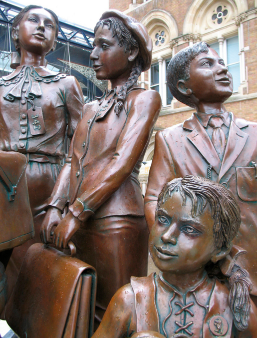The Kindertransport memorial at Liverpool Street Station. © Laura Kidd