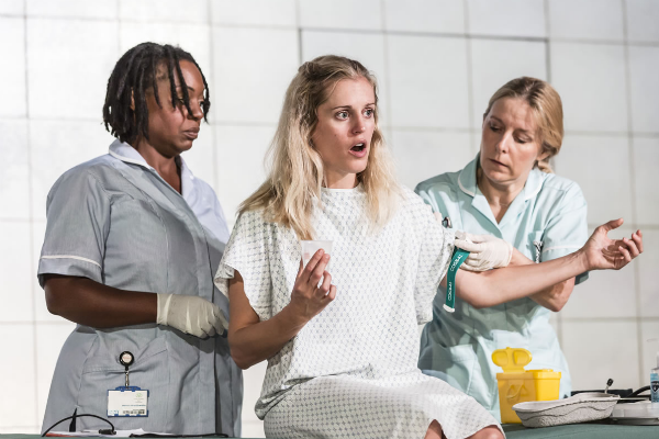 Denise Gough in PEOPLE, PLACES AND THINGS: Dorfman Theatre at the National, London, followed by 2016 transfer to Wyndham's Theatre, London - award presented to Denise Gough by Dominic Maxwell, The Times