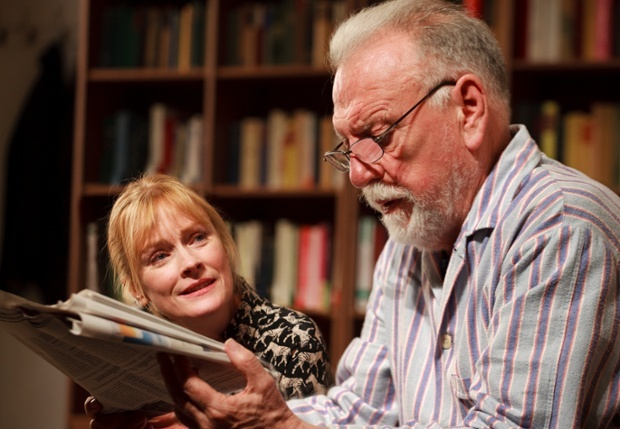 Kenneth Cranham in THE FATHER: Bath Theatre Royal Ustinov Studio & Tricycle Theatre, London, followed by transfer to Wyndham's Theatre, London and 2016 transfer to Duke of York's Theatre, London and UK tour award presented to Kenneth Cranham by Michael Billington, The Guardian