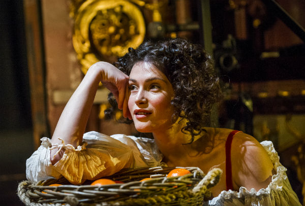 Gemma Arterton as Nell Gwynn in Jessica Swales' play at the West End's Apollo Theatre. © Helen Maybanks