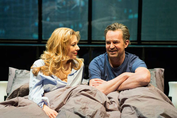 Jennifer Mudge and Matthew Perry in The End of Longing. © Helen Maybanks