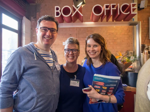 Three of the BEAM's brilliant organisers: Martin, Sarah and Victoria. © David Ovenden