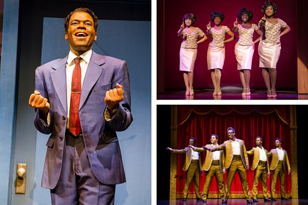 Cedric Neal (left) leads the Motown cast as Berry Gordy