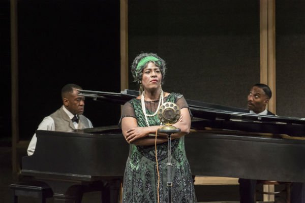 Lucian Msamati, Sharon D Clarke and Clint Dyer in Ma Rainey's Black Bottom at the National