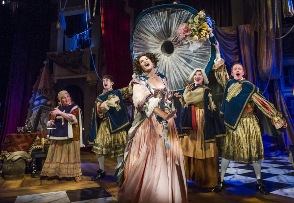 Gemma Arterton and the cast in Nell Gwynn. ©Tristram Kenton