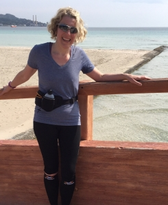 Ros Povey is running for the British Heart Foundation