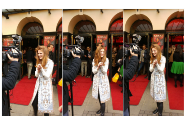 Rose Leslie papped on the red carpet at Doctor Faustus' West End opening