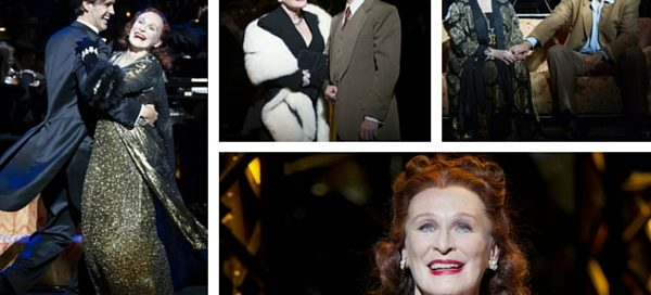 Sunset Boulevard: Glenn Close with (l-r) Michael Xavier, Julian Forsyth and Xavier again