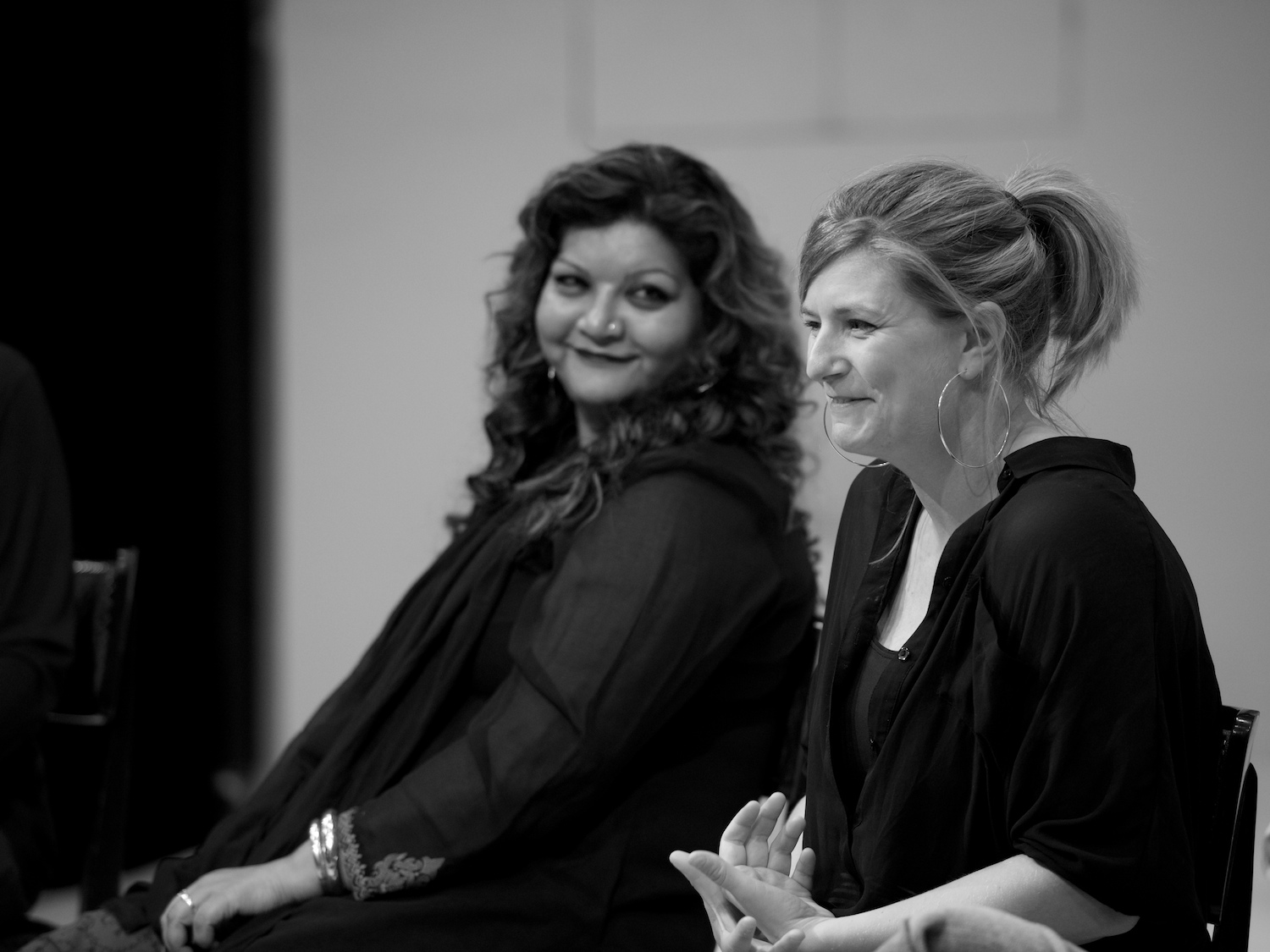 Two generations of female playwrights: Tanika Gupta and Anna Jordan at My Mother Said I Never Should panel discussion