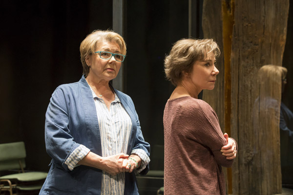 Barbara Flynn and Zoe Wanamaker in Elegy at the Donmar Warehouse, April 2016