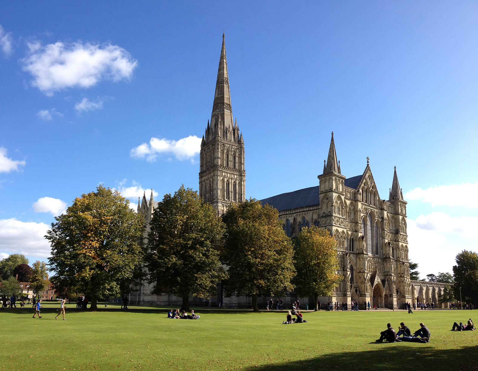 Salisbury Cathedral is the sixth main character in Five Rivers Met on a Wooded Plain
