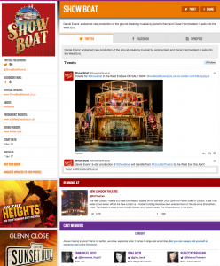Find all social media feeds for Show Boat and its cast on www.stagefaves.com