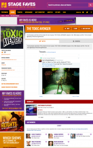 Find all social feeds for The Toxic Avenger and its cast on www.stagefaves.com