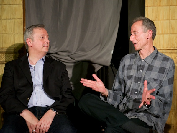 Writer and director Claudio Macor with Peter Tatchell at Savage post-show Q&A. © Peter Jones