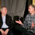 Claudio Macor and Peter Tatchell at Savage post-show Q&A
