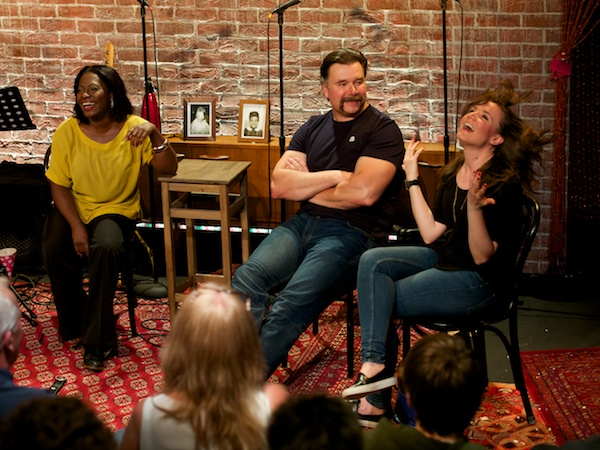 Landi Oshinowo, Nicholas Colicos and Rosanna Hyland at I'm Getting My At Together's post-show Q&A