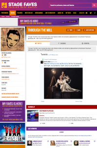Find all social media for Through the Mill, the three Judys and the rest of the cast on www.stagefaves.com