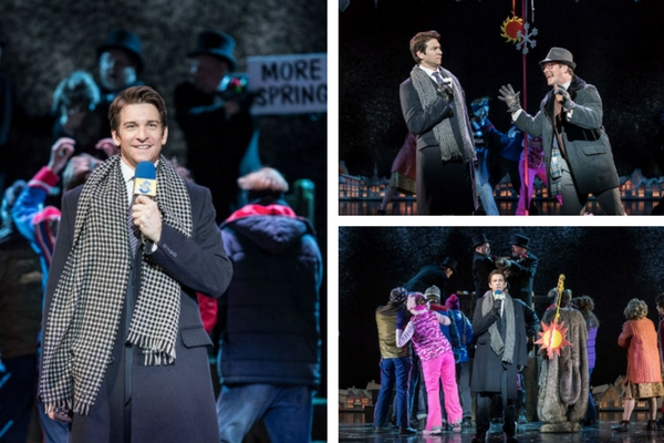 Andy Karl stars as Phil Connors in endless repeats of Groundhog Day at the Old Vic