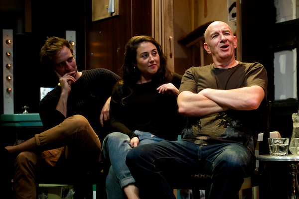 Waiting for Waiting for Godot cast James Marlowe, Laura Kirman and Simon Day at the post-show Q&A