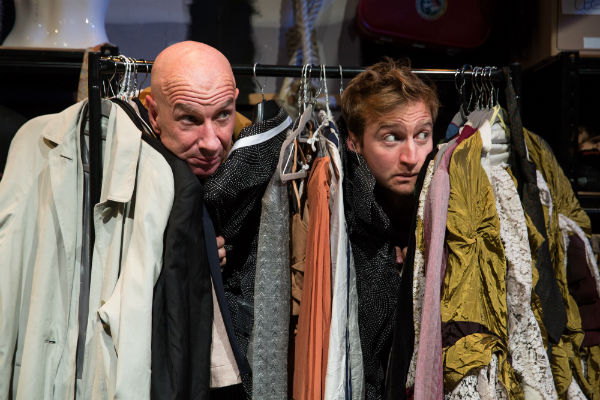 Simon Day and James Marlowe in Waiting for Waiting for Godot